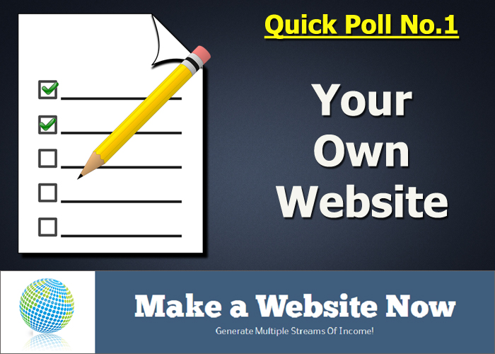 Quick Poll No.1 - Your Own Website